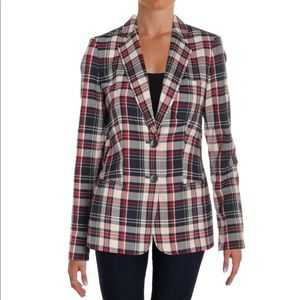 Tommy Hilfiger Women's Plaid Two-Button Blazer